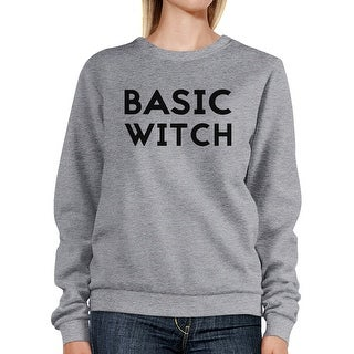 Basic Witch Sweatshirt Funny Graphic Pullover Sweaters For Women