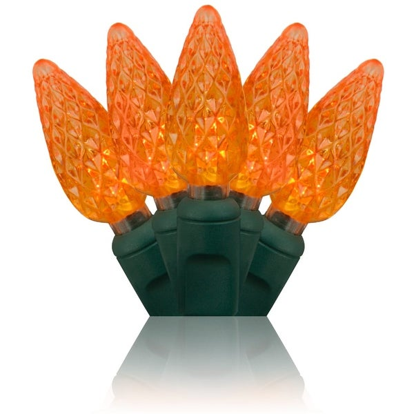 Wintergreen Lighting 20321 70 Bulb C6 Orange LED Christmas Lights - N/A