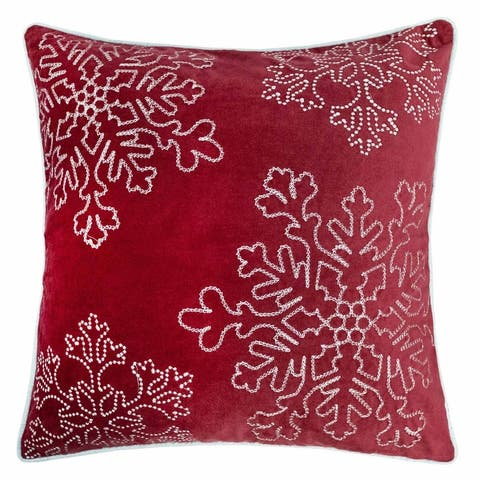 Sophia Christmas Holiday Oversized Pillow with Insert