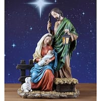 "Holy Family Christmas Nativity Figure 15"" - multi"