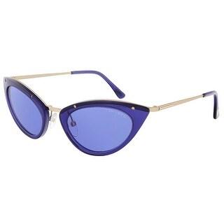 Tom Ford FT0349/S 90V Grace Electric Blue Cateye Sunglasses