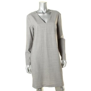 DKNY Womens Wool Blend Long Sleeve Wear to Work Dress