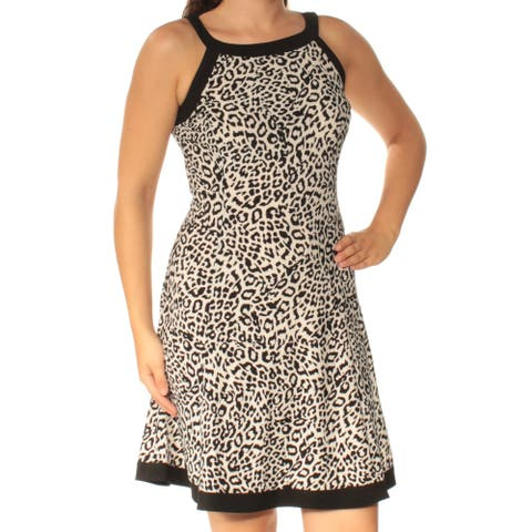 AMERICAN LIVING Ivory Sleeveless Above The Knee Dress 6