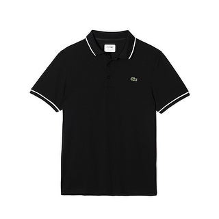 Lacoste Mens Sport Ultra-Dry Tennis Polo in Black/White