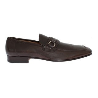 Dolce & Gabbana Brown Leather Formal Loafers Shoes - eu42-5-us9-5