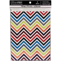 Ultra PRO 58205-R Mini Photo Album, 4 by 6-Inch, Chevron Rainbow