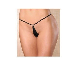100% Silk Micro G-string With Rings, Micro G-string