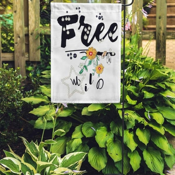 Shop Beautiful Free Slogan Pearl And Flowers Beauty Black College Embroidered Garden Flag Decorative Flag House Banner 12x18 Overstock 31358898