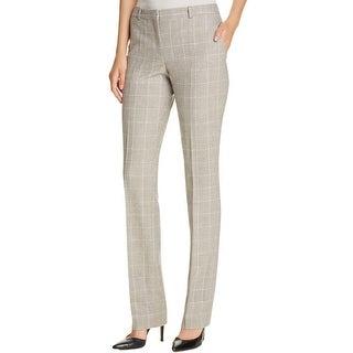 Hugo Boss Womens Dress Pants Checkered Straight leg