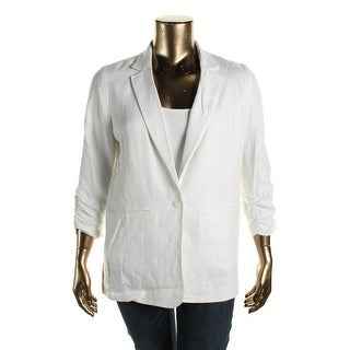 MICHAEL Michael Kors Womens Basic Jacket Linen Ruched