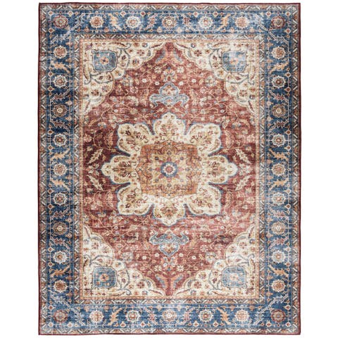 ReaLife Machine Washable - Vintage Bohemian Medallion Rug