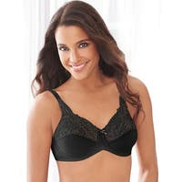 Lilyette by Bali Tailored Minimizer Bra With Lace Trim - 42c