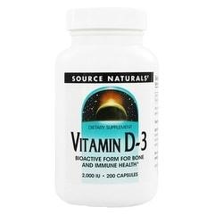 SOURCE NATURALS - Vitamin D-3 2000 IU 200 Capsule 200 CAPSULE