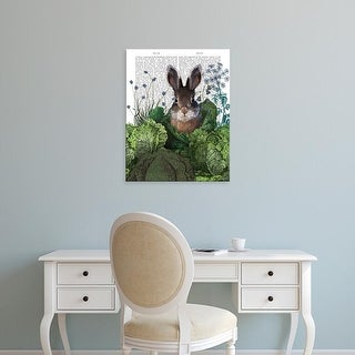 Easy Art Prints Fab Funky's 'Cabbage Patch Rabbit 4' Premium Canvas Art
