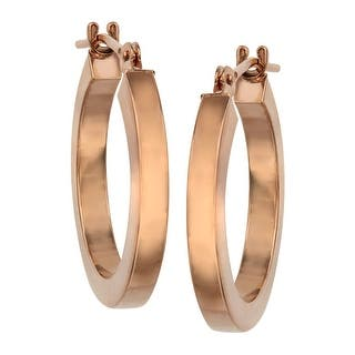 Just Gold Flat Hoop Earrings in 14K Rose Gold - Pink|https://ak1.ostkcdn.com/images/products/is/images/direct/52f11b5ff2199fb935f514a1ae17d97ec042364b/Just-Gold-Flat-Hoop-Earrings-in-14K-Rose-Gold.jpg?impolicy=medium