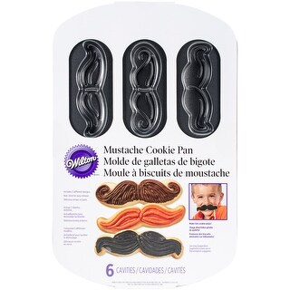 "Cookie Pan-Mustache 6 Cavity 12""X7.75"""