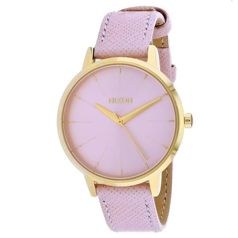 Nixon Women's Kensington Leather Pink Watch - A108-2813 - One Size