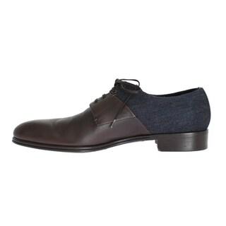Dolce & Gabbana Dolce & Gabbana Brown Leather Blue Denim Formal Shoes - eu44-us11