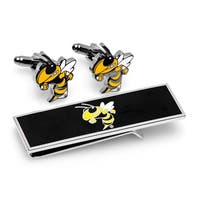 Georgia Tech Yellow Jackets Cufflink and Money Clip Gift Set