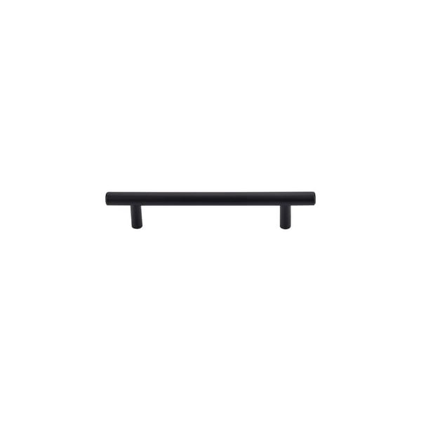 "Top Knobs M989 Hopewell 5"" (128 mm) Center to Center Bar Cabinet Pull from the Bar Pulls Series - Flat Black - n/a"