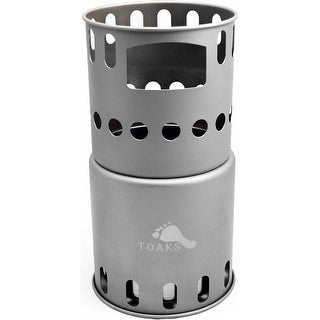 TOAKS Titanium Backpacking Wood Burning Stove STV-11 - Outdoor Camping - One Size