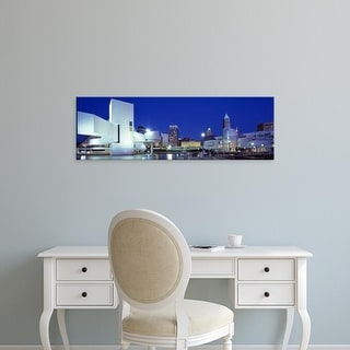 Easy Art Prints Panoramic Images's 'Cleveland, Ohio, USA' Premium Canvas Art