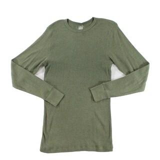 Alfani NEW Green Mens Size Medium M Thermal Long Sleeve Nightshirt
