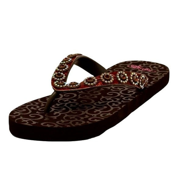Blazin Roxx Western Shoes Womens Marissa Flip Flops Brown