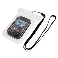 Unique Bargains Waterproof Swimming Pouch Dry Bag Case White for iPhone 4G w Neck Strap