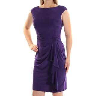 AMERICAN LIVING $69 Womens New 1457 Purple Sheath Dress 8 B+B