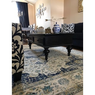 Shop Safavieh Evoke Ivory Blue Rug 8 X 10 On Sale