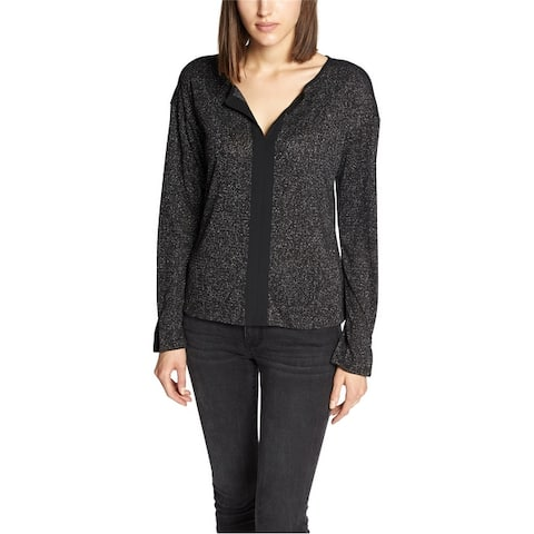 Sanctuary Clothing Womens Mixed Media Pullover Blouse