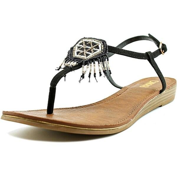 Carlos by Carlos Santana Tonalea Women Open-Toe Synthetic Black Slingback Sandal