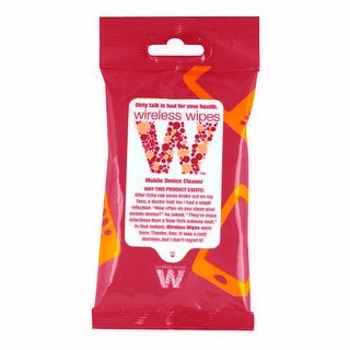 Wireless Wipe Anti-Bacterial Mobile Device Towelettes - Pomegranate Citrus