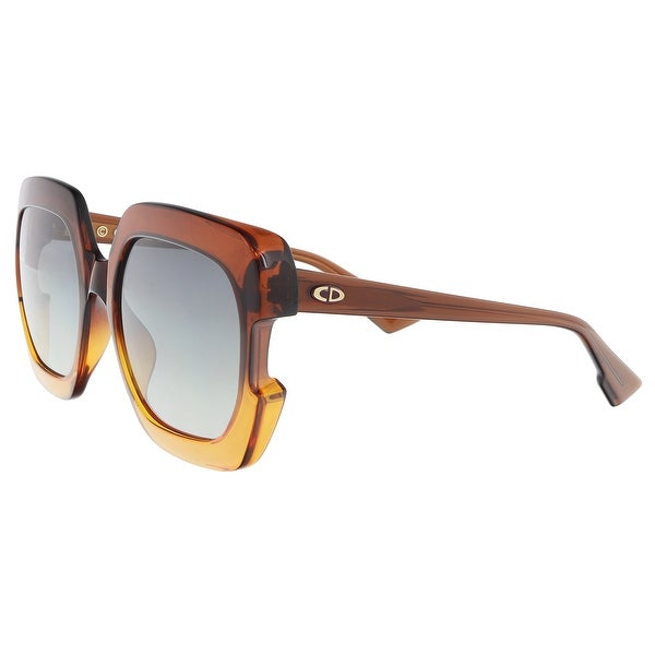89bae4d4e6c Christian Dior DIORGAIA 012J Brown Orange Square Sunglasses - 58-20-140