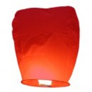 Pack of 4 Asian Inspired Red Chinese Sky Lantern Party Luminaries