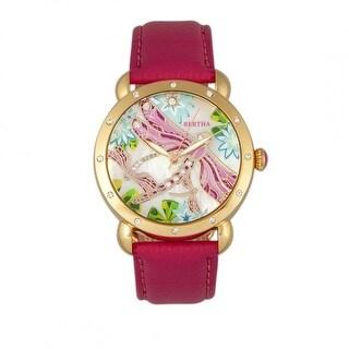 Bertha Jennifer Women's Quartz Watch, Genuine Leather Band, Luminous Hands