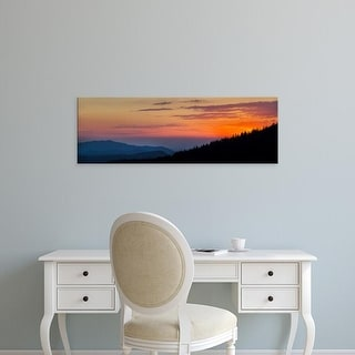 Easy Art Prints Panoramic Image 'Sunset at Clingmans Dome, Great Smoky Mountains National Park, Tennessee' Canvas Art