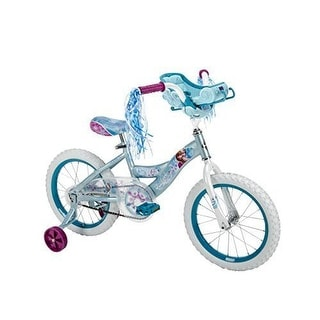 Huffy Bikes Disney FROZEN BIKE, Steel Frame Kids BICYCLE, White Blue Pearl - white with blue pearl