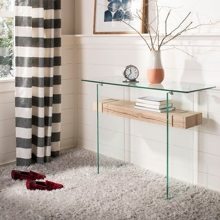 Safavieh Kayley Natural/ Glass Console Table