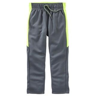 OshKosh B'gosh Baby Boys' Mesh Active Pants, Gray, 6 Months - gray