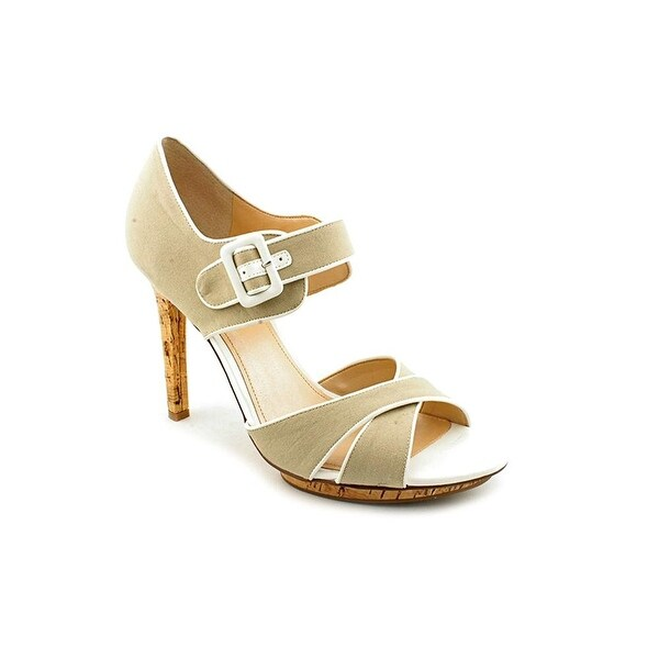 Marc Fisher Womens Kali Canvas Open Toe Special Occasion Ankle Strap Sandals