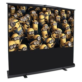 "Arksen Movie Screen 80"" Indoor Outdoor Portable 4:3 Home Cinema HD Projector Screen Pull Up w/Aluminium Case"
