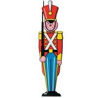 Pack of 24 Double Sided Toy Soldier Cutout Christmas Decorations 3'