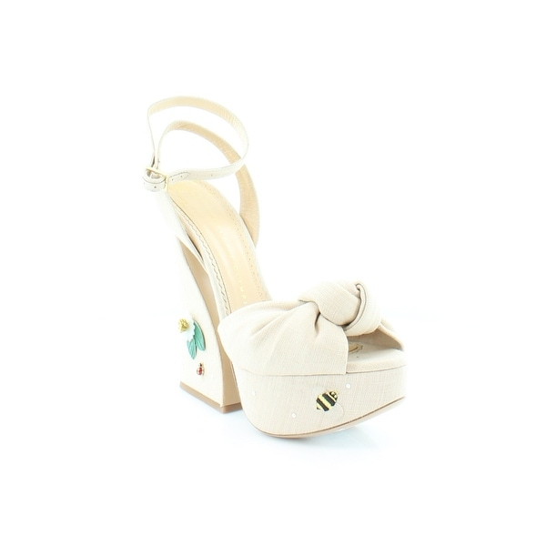 Charlotte Olympia Floral Vreeland Women's Heels Natural