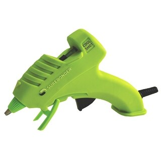 Surebonder Cool Shot Miniature Ultra Low Temperature Green Glue Gun with Insulated Nozzle and Safety Fuse, 10 W