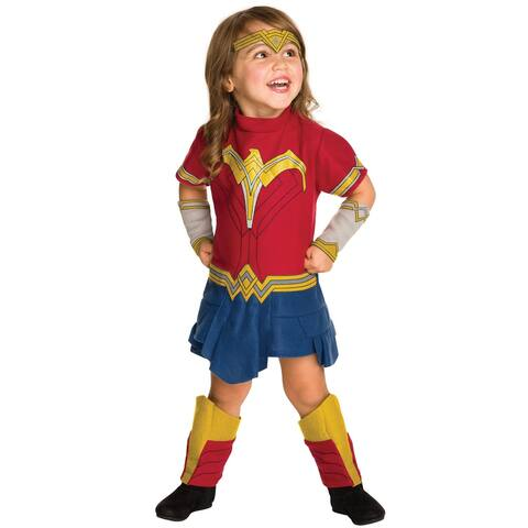 Rubies JL Wonder Woman Romper Toddler Costume - Red/Blue