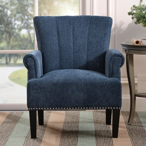 TiramisuBest Accent Rivet Tufted Polyester Armchair