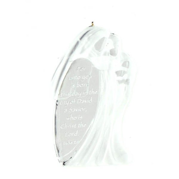 Carlton Cards Heirloom Away in a Manger Nativity Christmas Ornament - CLEAR