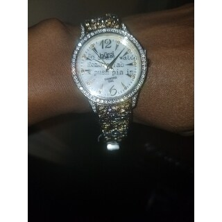 Burgi Women's Diamond Markers Mother of Pearl Quartz Bracelet Watch